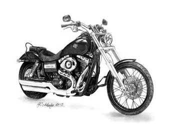 Gifts For Him Motorcycle Art