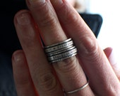 MADE TO ORDER Mantra Spinner Ring, Sterling Silver worry ring, fidget ring, intention ring