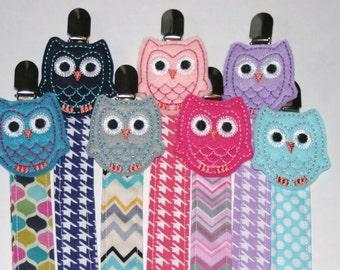 Owl Binky Pacifier Clip
