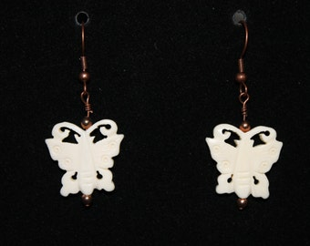 Carved Butterfly Earrings
