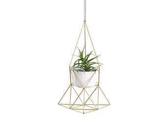LOTUS | Geometric Terrarium Planter No.2 | Small Modern Plant Hanger | Himmeli
