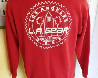 LA Gear 1980s red vintage sweatshirt - size large/XL