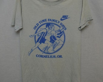 Vintage NIKE Fun RUN 1981 UsA T-shirt 1980's Shirt