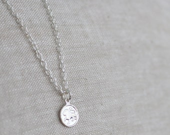 CLOSING SALE - One Left - Leo Tiny Zodiac Necklace / Choose Your Length / Silver