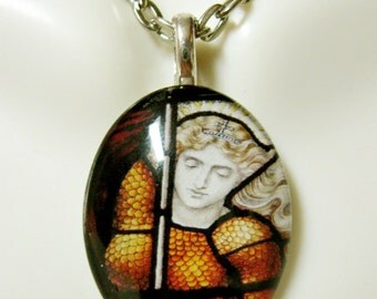 Saint Joan of Arc pendant with chain - GP12-347