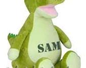 Crocodile gator  Birth Announcement Baby Keepsake Plush Stuffed Animal Cubbie Personalized