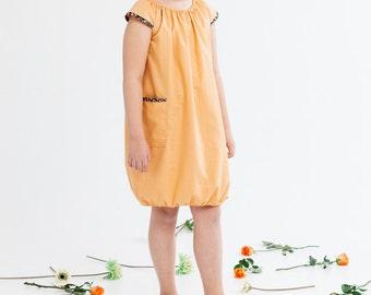 Usva -dress for girls, apricot orange
