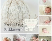 PDF Pattern- Knit Hat Newborn Cable Beanie