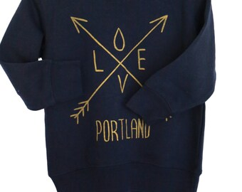 Arrow| Love| Children sweatshirt| Toddler & Youth jumper| Longsleeve|Portland state| Art by MATLEY| baby gift| Hometown tees| travel t shirt