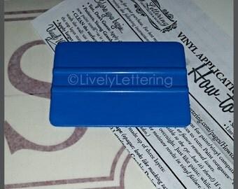 "4"" Squeegee Tool for applying Wall Decals & Vinyl Lettering, vinyl tool, decal applicator, plastic squeegee, scraper"