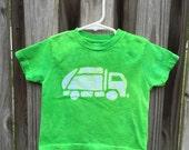 Garbage Truck Shirt, Kids Truck Shirt, Boys Garbage Truck Shirt, Green Truck Shirt, Girls Garbage Truck Shirt, Green Garbage Truck (2T)