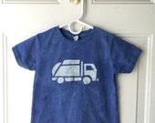 Garbage Truck Shirt (5/6), Kids Truck Shirt, Boys Garbage Truck Shirt, Blue Truck Shirt, Girls Truck Shirt, Boys Truck Shirt