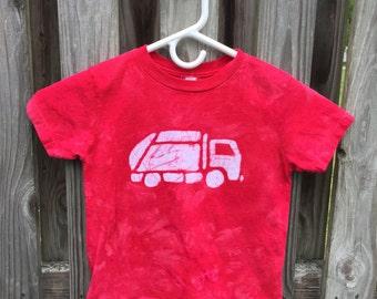 Garbage Truck Shirt (5/6), Kids Truck Shirt, Boys Garbage Truck Shirt, Red Truck Shirt, Girls Truck Shirt, Boys Truck Shirt