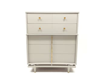 Vintage Highboy In Elephant Skin Gray