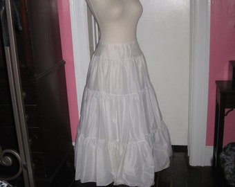 Vintage Crinoline Adjustable Fits most sizes white 3 layers