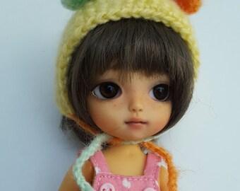 Mohair bear hat helmet for Pukifee Lati Yellow