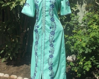 Day of the Dead Costume, Mexican Embroidered Maxi Dress, Hippie Festival Dress, Embroidered Maxi Dress