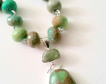 Chrysoprase Necklace and Pendant