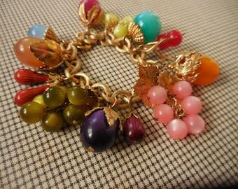 Vintage NAPIER Tropicana Fruit Bracelet