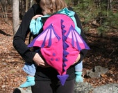 BE The Mother of Dragons.....  Pink Baby Dragon Carrier Cover - Baby Carrier Accessory with Huge Pocket Storage