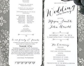 Printable Wedding Programs  | Ceremony program  | Double Sided Programs - Style P59 - BOMBSHELL COLLECTION