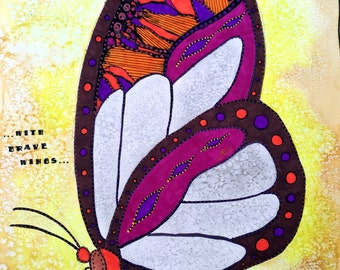 Butterfly 8x10 or 11x14 or 16x20 Limited Edition or Fine Art Print