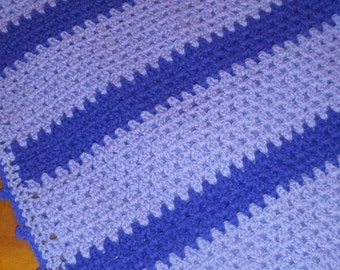 Crochet baby blanket purple lavender ready to ship