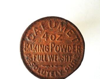 Antique CALUMET Baking Powder Tin with Lid