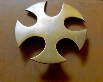 Betty Cooke Modernist Bronze Brooch Pin Iconic Baltimore Studio Jewelry Artist Signed Amazing Design