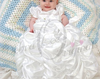 Isabella White Christening Gown  blessing  Also ideal for naming ceremonies, weddings and other formal occassions