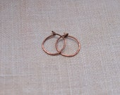 Smallest Copper Hoop Earrings