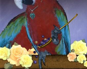 Parrot Art Parrot Art Print Custom Pet Portraits Parrot Wall Decor Parrot
