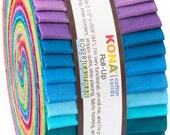 Kona Solids Roll Up New Bright- Kona Jelly Roll New Bright  RU-231-41