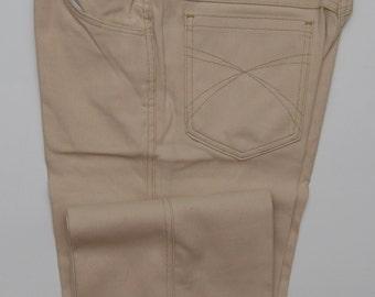 NOS vintage tan khaki soft jean pants/ Vint khaki pants/ Sport-A-Bouts