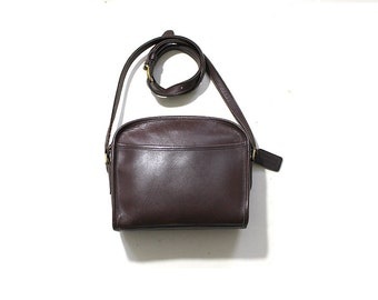 Vintage Coach Bag / Brown Leather Coach Metropolis Bag / Cross Body Coach Purse