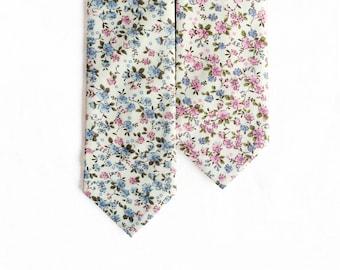 Amelia - Pink/ Blue Floral Men's Tie