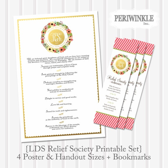 Gutsy image throughout relief society declaration printable
