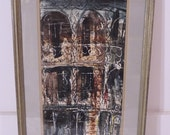 Tom Lane Watercolor Painting RUE ROYALE New Orleans Listed Artist 1969