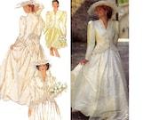 Style 2257 Steampunk 90s Romantic 2 Piece Wedding Bridal Gown Pattern Peplum Jacket & Skirt Cosplay Bridesmaid Sizes 8 - 18