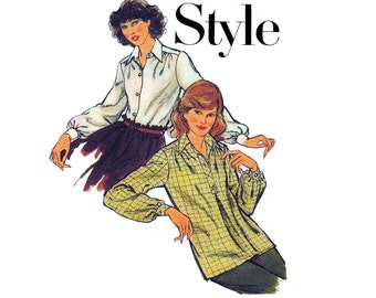 70s Womens Blouse Pattern Style 2379 Gathered Yoke Vintage Sewing Pattern Size 10 Bust 32 1/2 Inches UNCUT Factory Folded