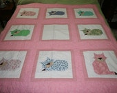 Sleeping Cats Mostly Throw Quilt