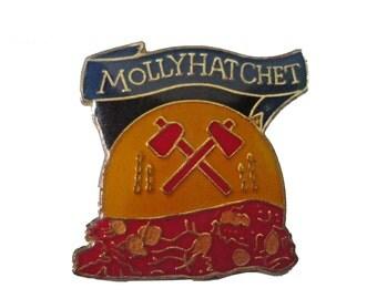 MOLLY HATCHET vintage enamel pin death dealer frazetta hard rock heavy metal