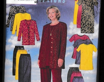 Butterick 5288 Women's Jacket, Dress Tunic Skirt and Pants Unlimited Fashion Options Fast and Easy