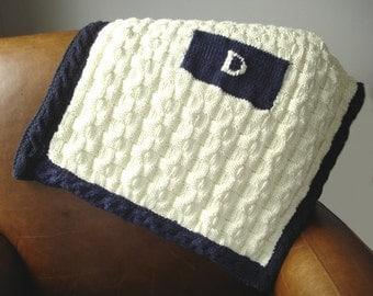 Baby Blanket PATTERN- Initial Baby Blanket Knitting pattern