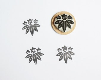 Japanese Leaves - Hand Carved Rubber Stamp