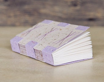 Handbound book made with Thistle Farms papers