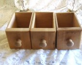 Three (3) Vintage Unfinished Wood Drawers
