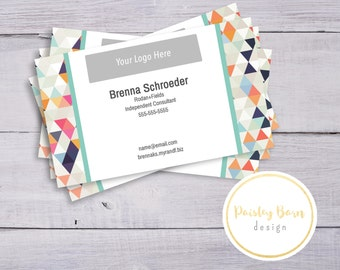 BUSINESS CARDS Front & Back Color | business, marketing, printed, personalized, direct sales, triangle, bright color, fun