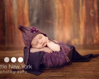 Newborn photo prop, newborn hat, newborn boy, newborn girl, knit newborn hat, newborn props, ANY color newborn ribbed bonnet / gnome hat