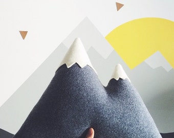 the Peaks - LARGE Mountain Pillow - made to order